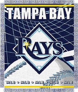 "Northwest MLB Rays 48""x 60"" Triple Woven Throw"
