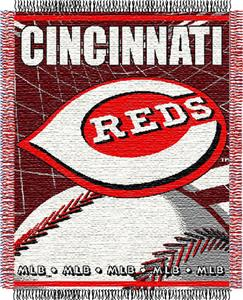 "Northwest MLB Reds 48""x 60"" Triple Woven Throw"