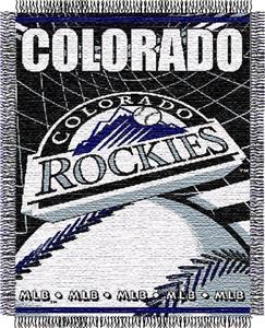 "Northwest MLB Rockies 48""x 60"" Triple Woven Throw"