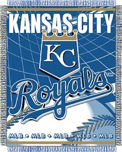 "Northwest MLB Royals 48""x 60"" Triple Woven Throw"