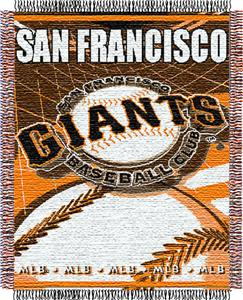 "Northwest MLB Giants 48""x 60"" Triple Woven Throw"