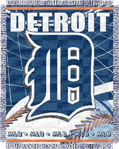 "Northwest MLB Tigers 48""x 60"" Triple Woven Throw"