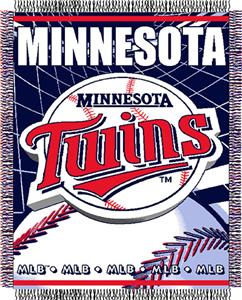 "Northwest MLB Twins 48""x 60"" Triple Woven Throw"