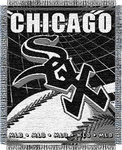 "Northwest MLB White Sox 48""x60"" Triple Woven Throw"