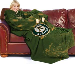 Northwest MLB Oakland Athletics Adult Fleece Throw