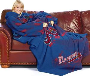 Northwest MLB Atlanta Braves Adult Fleece Throw