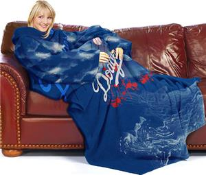 Northwest MLB LA Dodgers Adult Fleece Comfy Throw