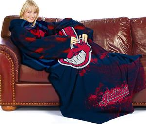Northwest MLB Cleveland Indians Adult Fleece Throw