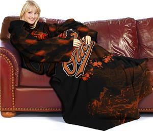 Northwest MLB Baltimore Orioles Adult Fleece Throw