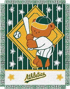 Northwest MLB Atheltics Baby Triple Woven Throw