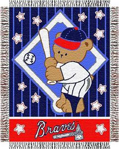 Northwest MLB Braves Baby Triple Woven Throw