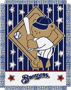 Northwest MLB Brewers Baby Triple Woven Throw