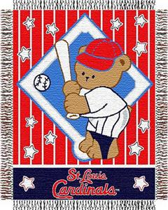 Northwest MLB Cardinals Baby Triple Woven Throw
