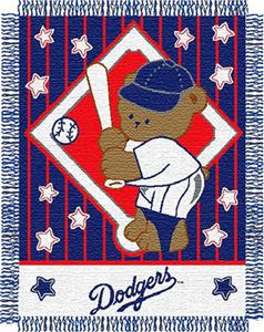 Northwest MLB Dodgers Baby Triple Woven Throw