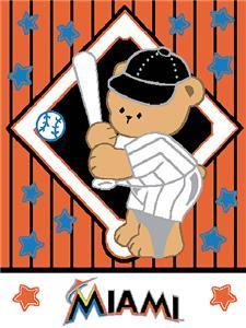 Northwest MLB Marlins Baby Triple Woven Throw