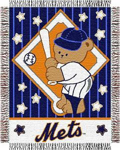 Northwest MLB Mets Baby Triple Woven Throw
