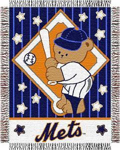 Northwest MLB Mets Baby Triple Woven Throw