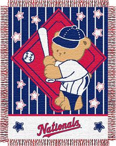 Northwest MLB Nationals Baby Triple Woven Throw