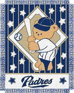 Northwest MLB Padres Baby Triple Woven Throw