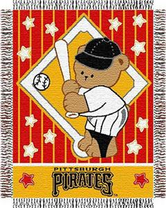 Northwest MLB Pirates Baby Triple Woven Throw