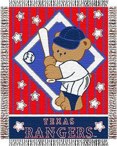 Northwest MLB Rangers Baby Triple Woven Throw