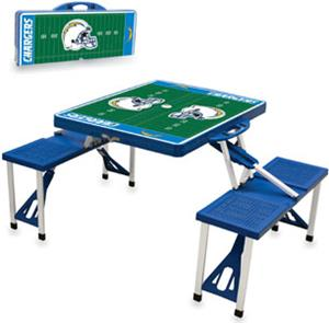 Picnic Time NFL San Diego Chargers Picnic Table