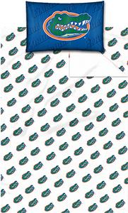 Northwest NCAA Univ. of Florida Twin Sheet Set