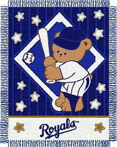 Northwest MLB Royals Baby Triple Woven Throw
