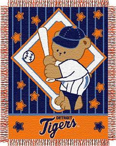 Northwest MLB Tigers Baby Triple Woven Throw