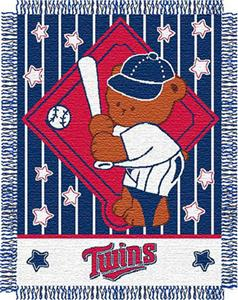 Northwest MLB Twins Baby Triple Woven Throw