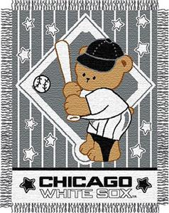 Northwest MLB White Sox Baby Triple Woven Throw