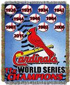 Northwest MLB Cardinals Commemorative Throw