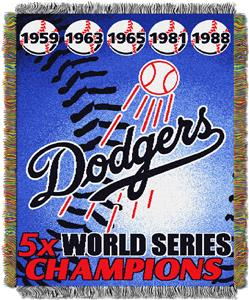 Northwest MLB LA Dodgers Commemorative Throw