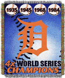 Northwest MLB Detroit Tigers Commemorative Throw