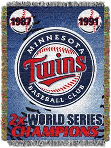 Northwest MLB Minnesota Twins Commemorative Throw