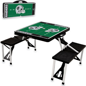Picnic Time NFL Oakland Raiders Picnic Table
