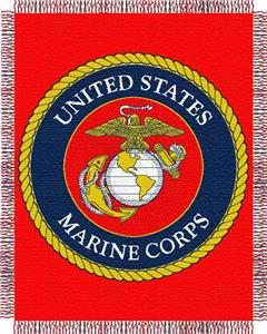 Northwest USMC Triple Woven Jacquard Throw