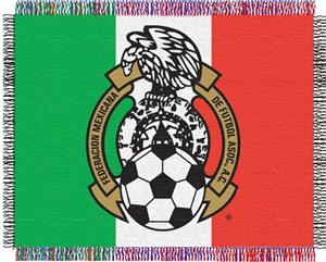 "Northwest FIFA Team Mexico 48""x60"" Woven Throw"
