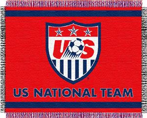 "Northwest FIFA Team USA 48""x60"" Triple Woven Throw"