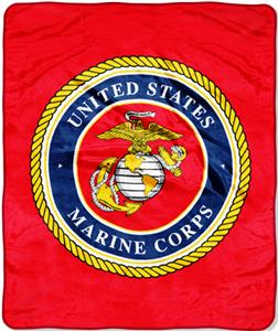 Northwest USMC Raschel Super Plush Throw