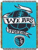 Northwest MLS KC Sporting Handmade Tapestry Throw