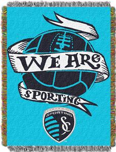 "Northwest MLS KC Sporting 48""x60"" Tapestry Throw"