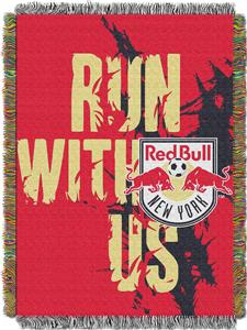 "Northwest MLS NY Red Bulls 48""x60"" Tapestry Throw"