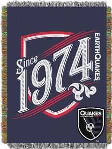 Northwest MLS San Jose Quakes 48x60 Tapestry Throw