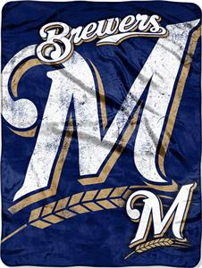 Northwest MLB Brewers Triple Play Micro Throw