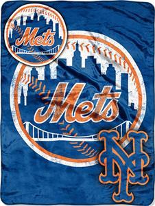 Northwest MLB Mets Triple Play Micro Raschel Throw
