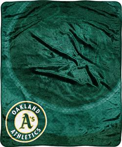 Northwest MLB Oakland Athletics Retro Plush Throw