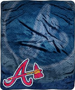 Northwest MLB Atlanta Braves Retro Plush Throw