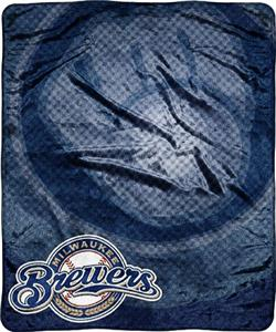 Northwest MLB San Diego Brewers Retro Plush Throw