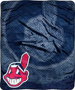 Northwest MLB Cleveland Indians Retro Plush Throw